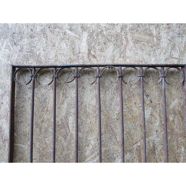 Antique Victorian Iron Gate Window Garden Fence Architectural Salvage Door For Sale In Philadelphia - Image 6 of 11