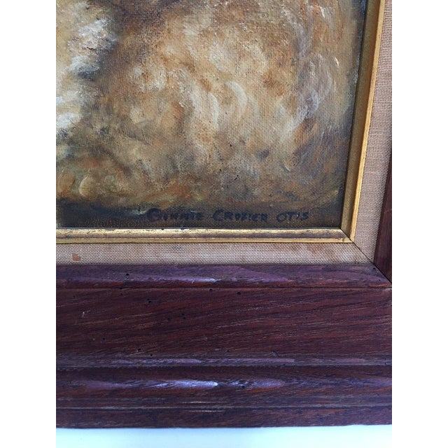 Vintage Mid-Century Cocker Spaniel Portrait Oil Painting For Sale In Richmond - Image 6 of 13