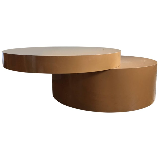 Two-Tier Swivel Top Coffee Table For Sale - Image 9 of 9