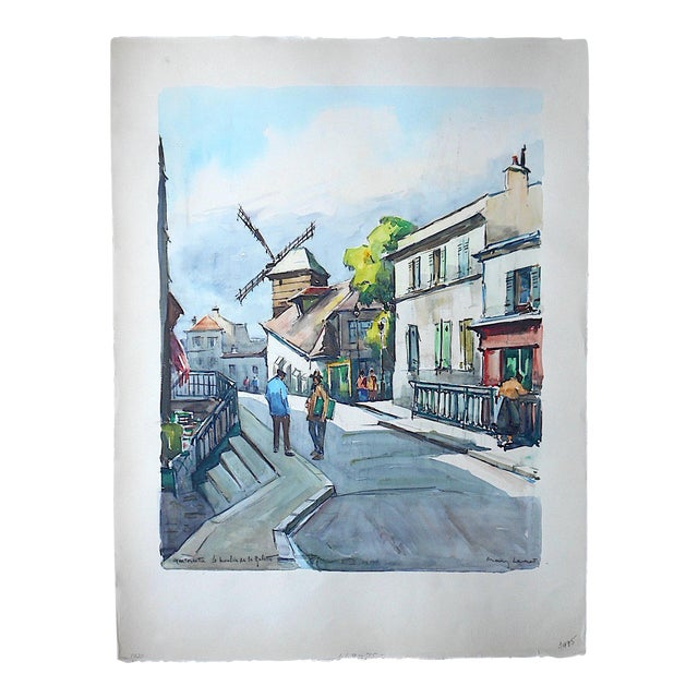 Original Vintage Painting, Montmartre in Paris - Image 1 of 3