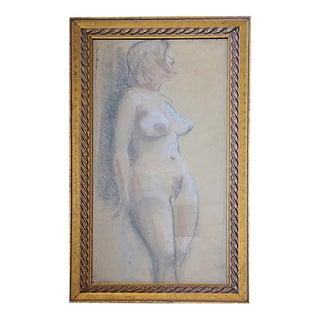 Original Circa 1960s Female Nude Study For Sale
