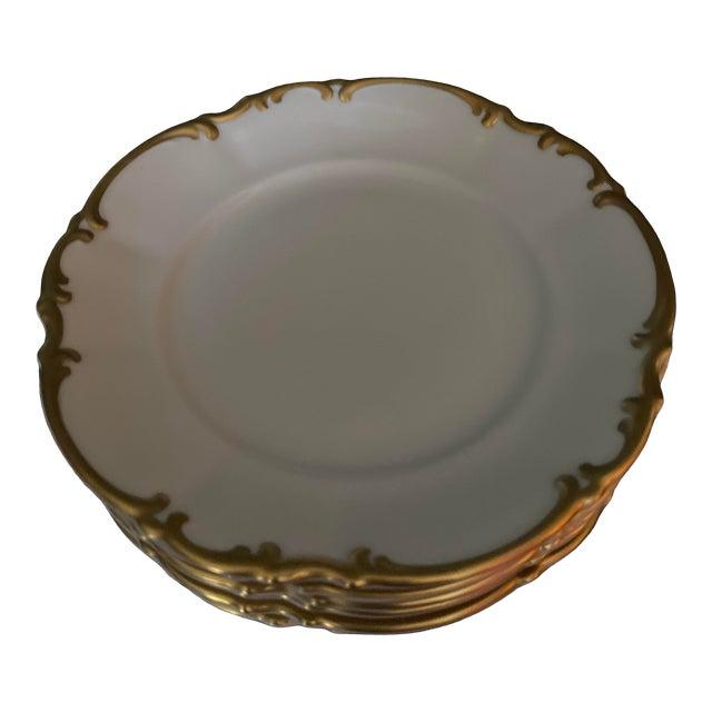 Vintage Hutschenreuther Brighton & Pasco Porcelain Bread & Butter Plates - Set of 12 For Sale