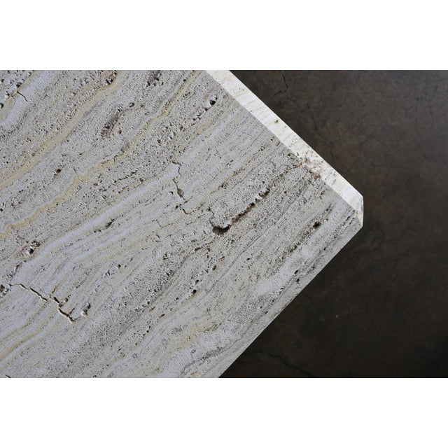 Travertine Coffee Table Circa 1980 For Sale - Image 11 of 13