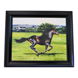 Vintage Oil Painting, Kentucky Horse