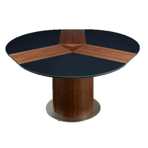 Black Extending Roung Dining Table by Skovby - Image 2 of 3