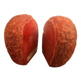 Image of 1950s Vintage Italian Red Marble Bookends-a Pair For Sale