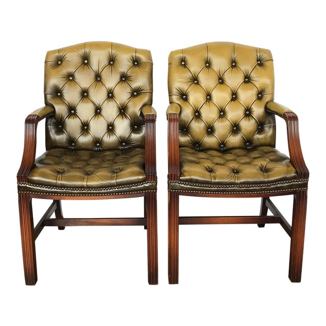 Chesterfield Guest Chairs - a Pair For Sale