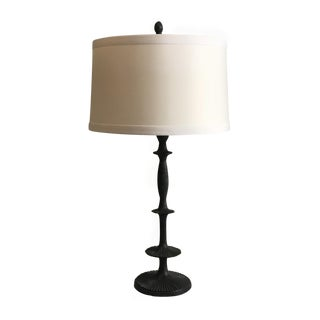 Arteriors Organic Iron Column Lamp With Banded Shade