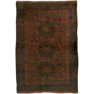 """Vintage Persian Baluch Rug - Size: 4"""" X 5' 6"""" For Sale"""