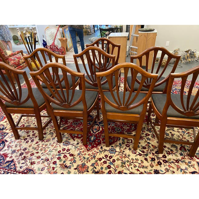 Wood Early 20th Century Irving & Casson Dining Chairs - Set of 8 For Sale - Image 7 of 13