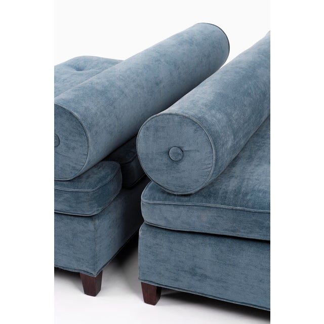 Textile Pair of Bolster-Back Sofas For Sale - Image 7 of 11