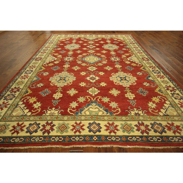 Super Kazak Hand Knotted Rug Red - 9' x 12' - Image 4 of 11