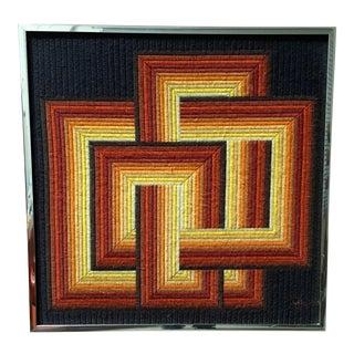 Geometric Fiber Textile Art