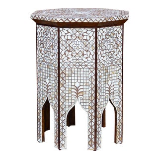 Mother of Pearl Syrian Side Table For Sale