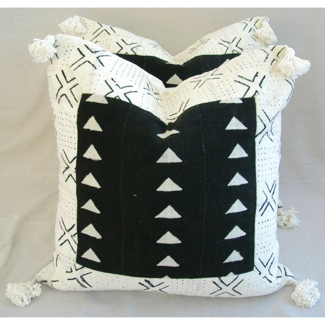 Handwoven African Tribal Textile Pillows - Pair - Image 2 of 10