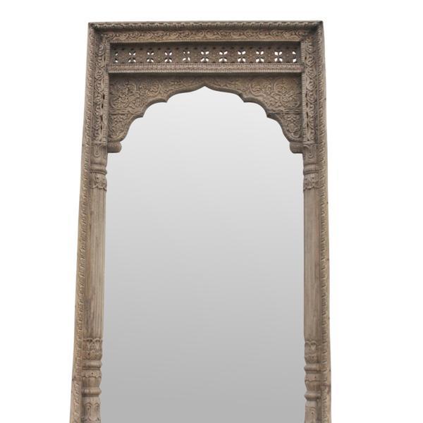 Rajwara Haveli Carved Door Frame Floor Mirror Chairish