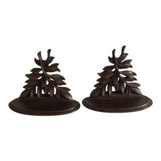 Syroco Wood Decorative Shelves - A Pair
