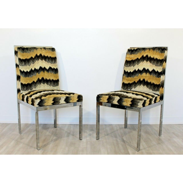 Mid-Century Modern Mid Century Modern Set of 6 Milo Baughman Dia Chrome Side Dining Chairs 1970s For Sale - Image 3 of 5
