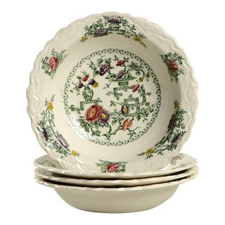 Crown Ducal Chinese Garden Small Bowls - Set of 4 For Sale