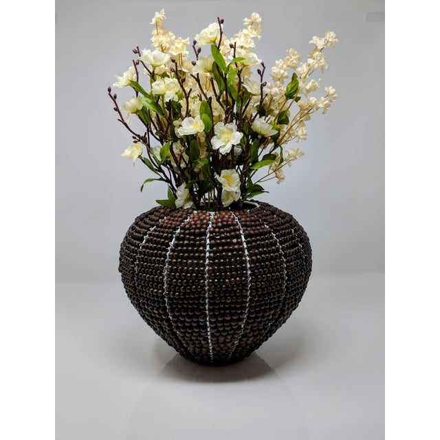 Tribal Fair Trade Beaded Vase For Sale - Image 10 of 13