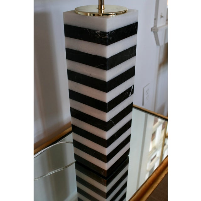 Mason Marble Stack Lamp For Sale - Image 4 of 6