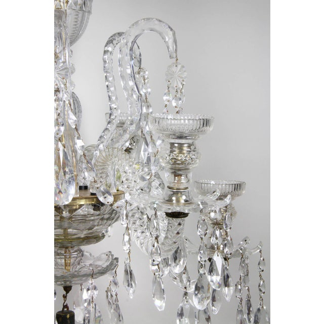 Anglo Irish Cut Glass Chandelier For Sale In Boston - Image 6 of 9