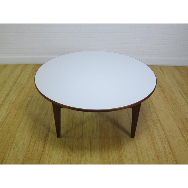 Mid-Century Jens Risom Laminate & Walnut T-336 Coffee Table For Sale - Image 9 of 9