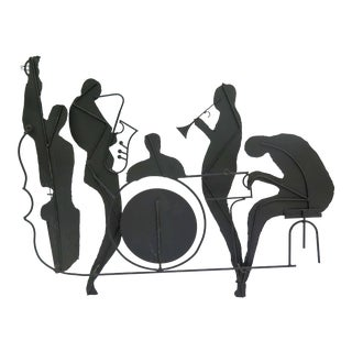 1950s Vintage Iron Jazz Band Sculptural Wall Object For Sale