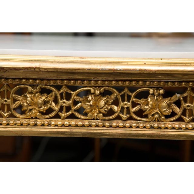 19th Century Louis XVI Style Giltwood Centre Table For Sale In West Palm - Image 6 of 7