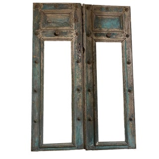 19th Century French Blue Doors - a Pair For Sale