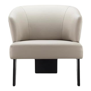 Vesta Carmina Vegan Leather Lounge Chair For Sale