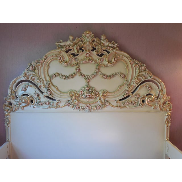 Italian Style Cherub California King Bedframe - Image 9 of 11