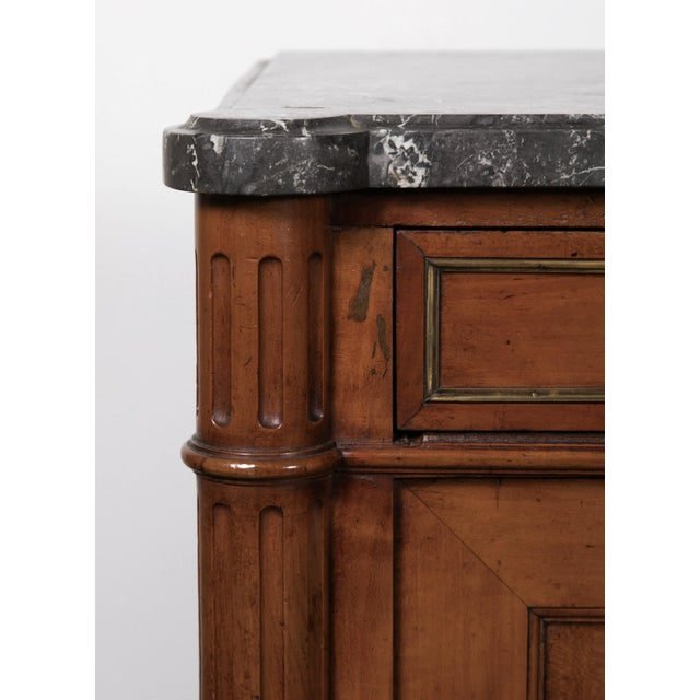 19th Century Louis XVI Walnut Enfilade with Marble Top - Image 8 of 11