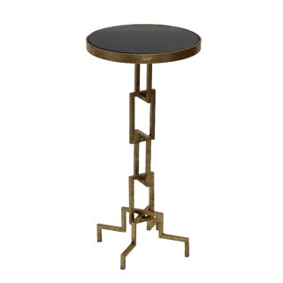 Flynn Contemporary Iron Accent Side End Table
