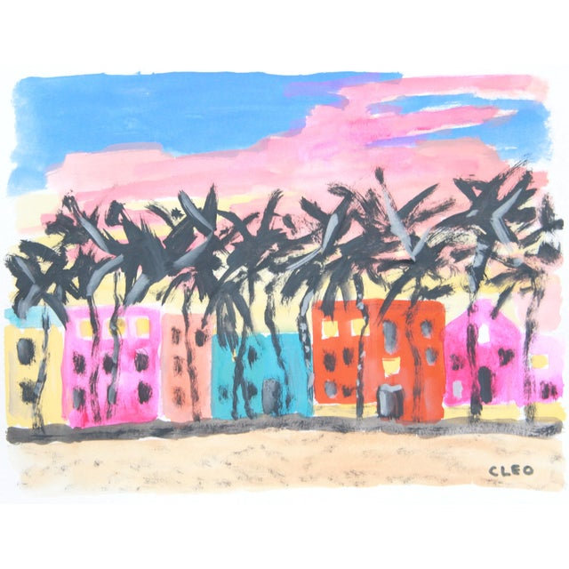 Miami Beach Abstract Painting by Cleo - Image 2 of 3