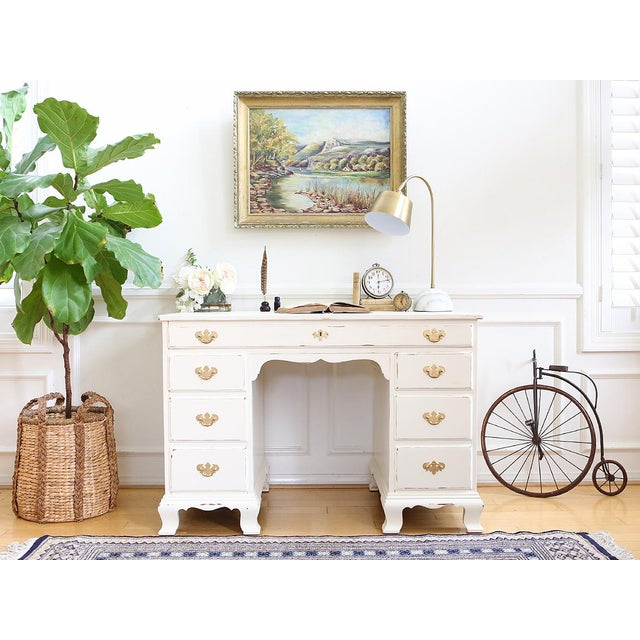 Shabby Chic Vintage Whitney Solid Wood Desk - Image 3 of 11