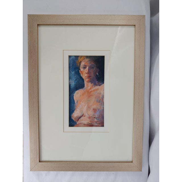 1970s Nude Original Painting by Charles Van Der Merwe, South Africa For Sale - Image 4 of 4