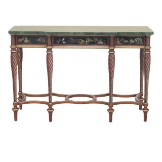 John Widdicomb Chinoiserie Decorated Console Table