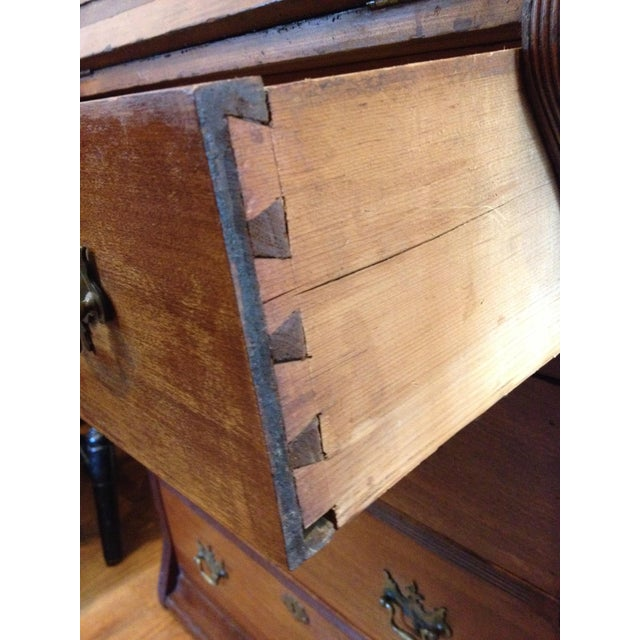 Wood Handmade Carved Slant Desk with the ID of John Hall, Quincy, Mass For Sale - Image 7 of 11