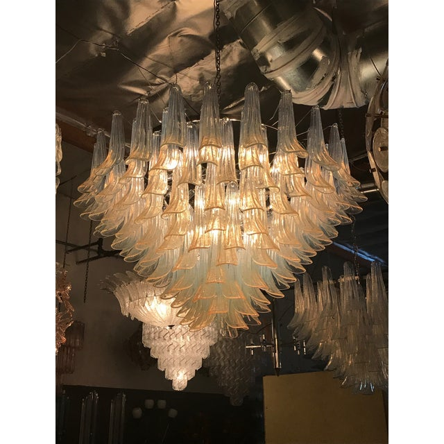 Selle Chandelier by Mazzega For Sale - Image 9 of 10