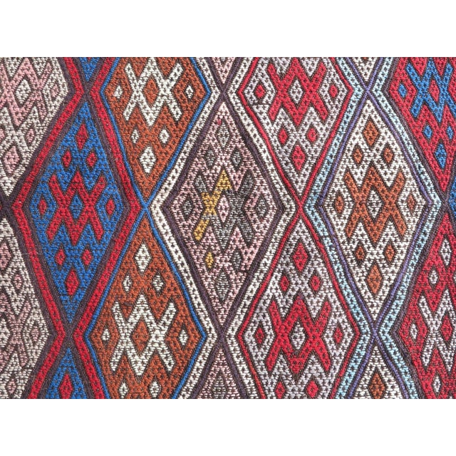 "Oversized Kilim Runner Rug - 4' X 22'11"" For Sale In Raleigh - Image 6 of 9"