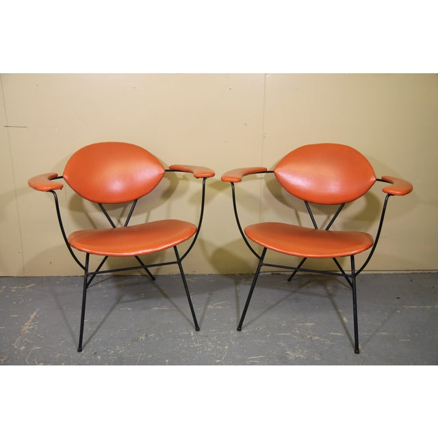 Tangerine Joseph Cicchelli for Reilly-Wolff Lounge Chairs - a Pair For Sale - Image 8 of 8