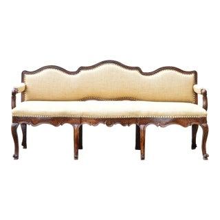 18th Century Italian Walnut Triple Back Bench or Settee