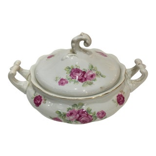 Goebel Hummel Bavaria Rose Pattern Porcelain Serving Bowl & Lid For Sale