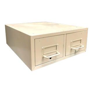 1950s Vintage Industrial Metal 2-Drawer File Cabinet For Sale