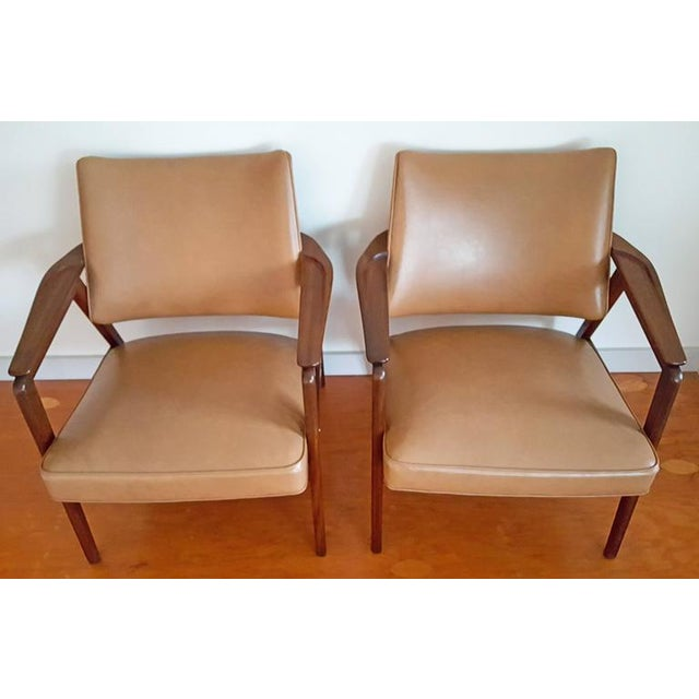 Sigvard Bernadotte 1950s Mid Century Sigvard Bernadotte Inspired Lounge Chairs - a Pair For Sale - Image 4 of 7