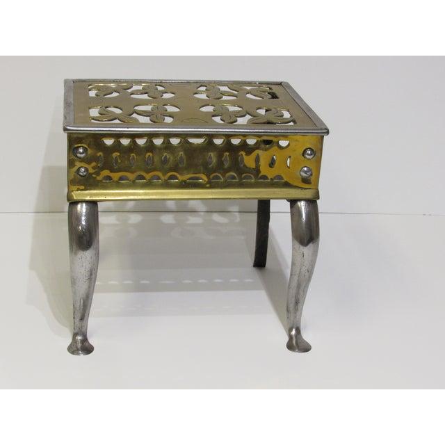 Brass Lattice Fireplace Set For Sale - Image 9 of 11