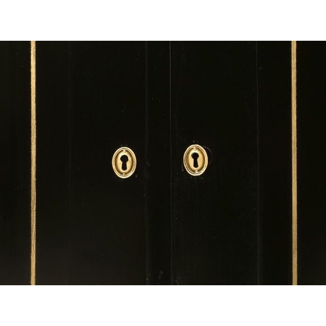 Louis XVI Ebonized Buffets with Marble Tops - a Pair For Sale - Image 11 of 13