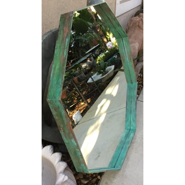 Bronze Architectural Bronze Hexagon Mirror For Sale - Image 7 of 10