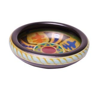 1930s Dutch Gouda Ceramic Decorative Dish For Sale